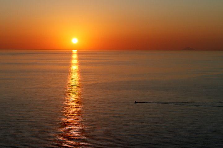 Capo Milazzo al tramonto